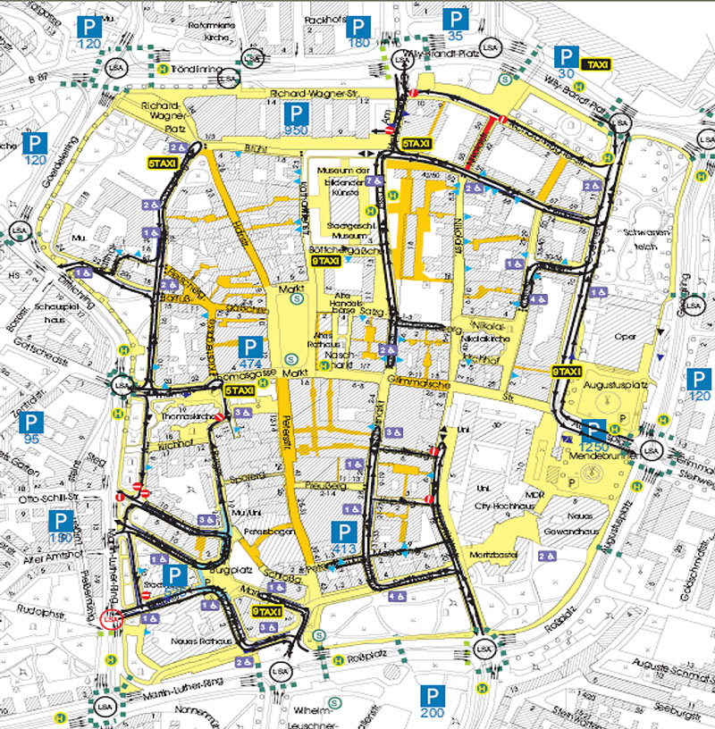 Plan of low-traffic innercity